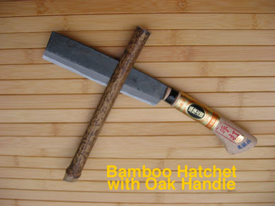 oak handle bamboo hatchet
